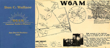 QSL card and book about pioneering amateur operator W6AM