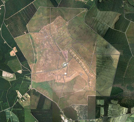 VOA Site B from the Google view – 2 miles across!