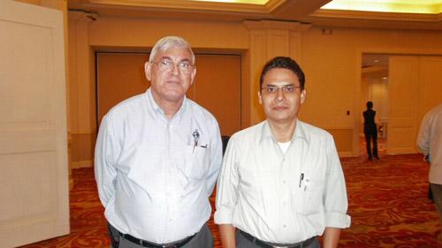 Javier Castillo en San Salvador con Carlos Ardon un buen amigo de LBA desde hace muchos años
