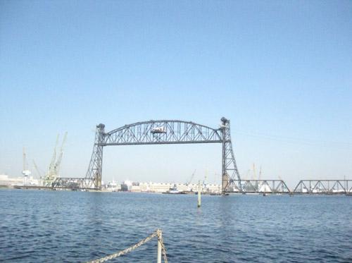 Bridge and Crane Structures near high power transmitter site