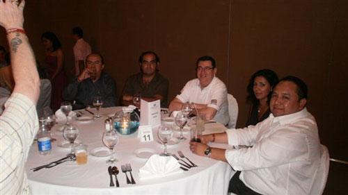 Personal de Dirsa/MPI en la cena de clausura