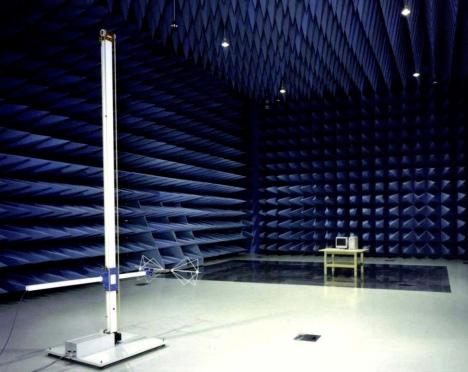Measuring device RF noise in Fujitsu anechoic chamber