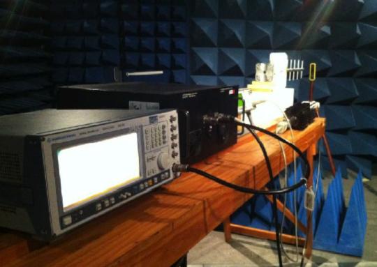 fieldSENSE Personal RF Safety Monitor Under Test