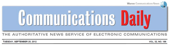 LBA's Cheif Technical Officer, Chris Horne is quoted in Communications Daily