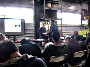 LBA CTO Chris Horne led the 27 students in RF Safety Awareness Training at Northeast Towers, Inc.