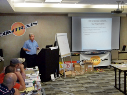 LBA VP Mike Britner leading a class of ComTrain attendees