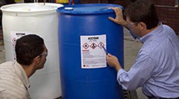 All workers encountering chemicals in the workplace must be trained.
