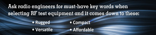 Must have key words when selecting RF test equipment