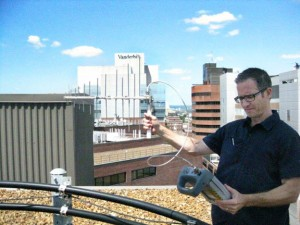 PIM from a rooftop rusty bolt crippled this LTE system