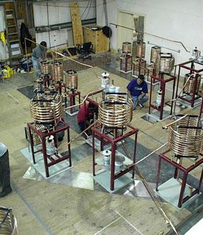 Prefab high power medium wave diplexer under test at LBA Technology
