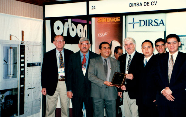 Javier Castillo, Marcian Bouchard and CEO Behr with Mexican distributors at an AMITRA engineering conference