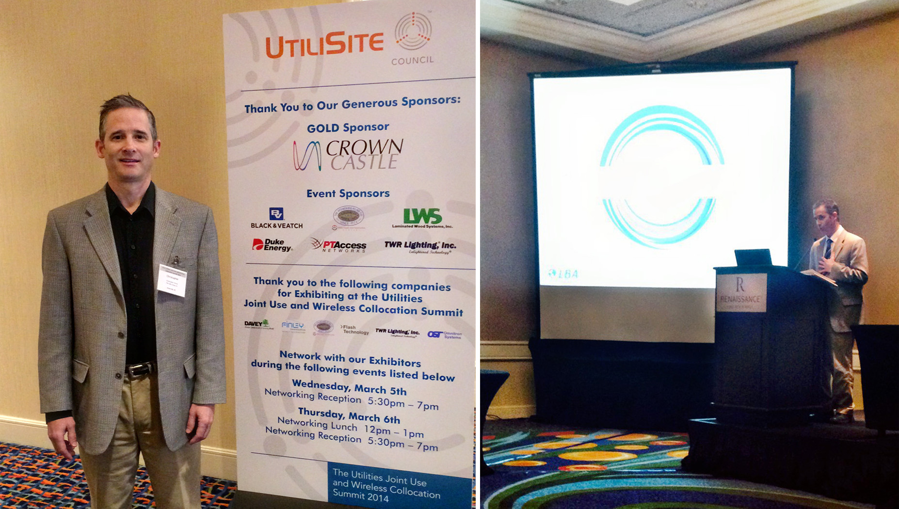 Dr. Chris Horne addressing new AM protection rules at the UtiliSite San Diego conference.