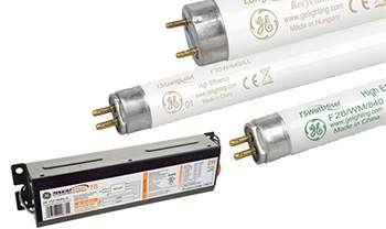 Typical GE UltraMax fluorescent lighting products