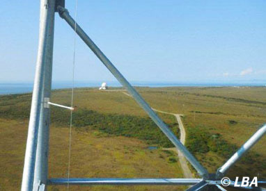 All that remains of the Kotzebue DEW Line radar station from GCI tower