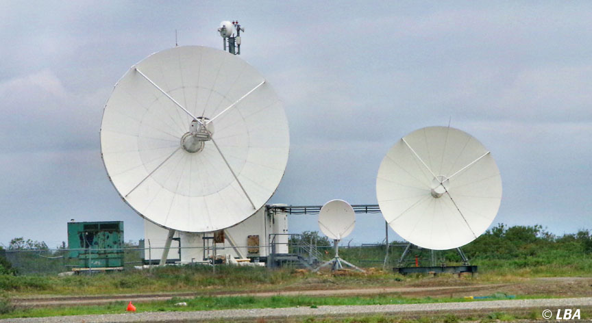 These satellite dishes are currently the only link from Kotzebue to the outside world