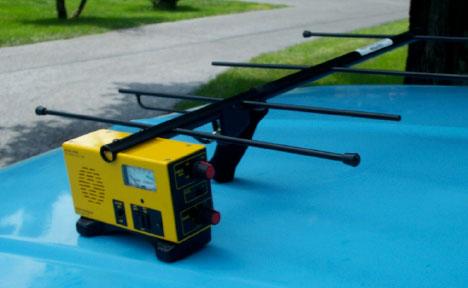 Typical power line RFI location instrumentation